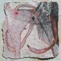 Ördögbőr, 1998 kl, tempera, pasztell, merített papír, 42x41,5 cm