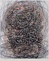Fej, 2005, számítógépes grafika, papír, 226x190 mm