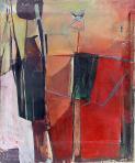 Madárijesztő, 1974, olaj, vászon, 110x90 cm