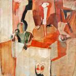 Bábos lány II., 1973-74 kl, olaj, vászon, 137x138 cm