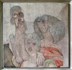 A Boreczkyek, 1978 kl, olaj, ceruza, vászon, 60x60 cm, (magántulajdon)