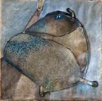 Dudás, 1980, olaj, vászon, 55x55 cm
