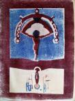 Pléhkrisztus, 1972, monotípia, papír, 600x800 mm