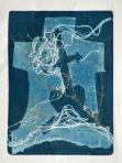 B ol, Öreg temető, 1992, monotípia, papír, 177x128 mm