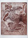 Árnyjátékos, 1996, monotípia, papír, 50x40 cm