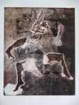 Árnyjátékos, 1996, monotípia, papír, 62,5x50 cm