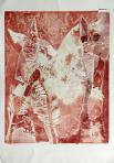 Sámán, 1996, monotípia, papír, 65,5x47,5 cm