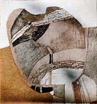 Zsákutca, 1986, sgraffito, 115x106 cm, (Budapesti Történeti Múzeum, Fővárosi Képtár)