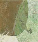 Napraforgó, 1985-89 kl, sgraffito, hungarocell, farost, 66,5x61,5 cm