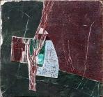 Kút, 1990 kl, sgraffito, hungarocell, farost, 59,5x63 cm