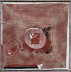 Kút, 1993, sgraffito, hungarocell, farost, 127,5x127,5 cm (kerettel), (magántulajdon)