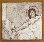 Eger, 2002, sgraffito, vászon, hungarocell, farost, 59x62 cm, (Budaörsi Önkormányzat)