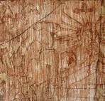Barokk, részlet, 2002, sgraffito, vászon, farost, 109x107 cm, (Budaörsi Önkormányzat)