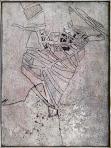 Pár, 1994 kl, sgraffito, vászon, hungarocell, farost, 96x72 cm