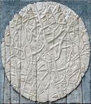 Cím nélkül, 2005, sgraffito, vászon, farost, 55x64 cm