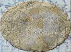 Cím nélkül, 2005, sgraffito, vászon, farost, 56x76 cm