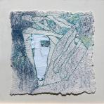 Táltos, 1999, kollázs, pasztell, vegyes technika, merített papír, karton, 45x46 cm