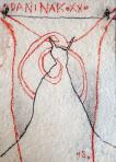 Ördögbőr, 1998, pasztell, merített papír, 28x19,5 cm, (magántulajdon)