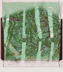 Ház kerítéssel, 2005, számítógépes grafika, papír, 215x201 mm