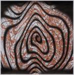Kígyó, 2005, számítógépes grafika, papír, 203x202 mm