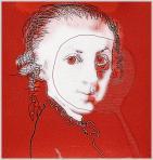 Mozart, 2005, számítógépes grafika, papír, 200x192 mm, (magántulajdon)
