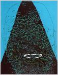 Pierrot (Fej csillagos égben), 2005, számítógépes grafika, papír, 151x116 mm, (magántulajdon)