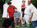 Plánka Zsuzsával, Zsigával és Julikával, Budaörs, 1996